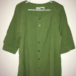 White Stag short sleeve button up, XL
